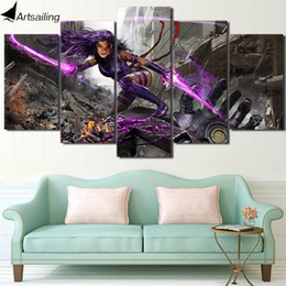 Wholesale Female Figure Oil Painting - 5 Panels Female Warrior Modern Abstract Canvas Oil Painting Print Wall Art Decor for Living Room Home Decoration