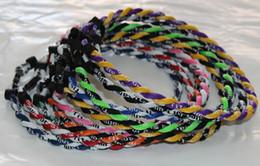 Wholesale Tornado Necklace Color Ropes - Free shipping free shipping 1000pcs Tornado titanium necklace twist necklace neon colors 2 ropes mix color 55cm