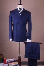 Wholesale Wedding Party Suit Vest - Custom Made 2016 New Man Suit Slim Fit Groom Tuxedos Suits Groomsman Bridegroom Suits (Jacket+Pants+Tie+Vest) Wedding Party Groomsman Suit
