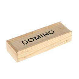 Wholesale Kids Toys Domino - Hot Sale Children Kids Educational Toy 28 Pieces Domino Game Play Set Fun Board Game Party Toy with Wooden Box Blocks free shipp