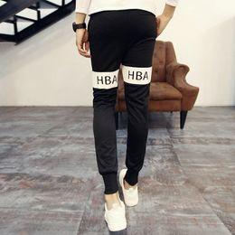 Wholesale Mens Casual Cargo Pants Trousers - Fashion 2016 Hood By Air Hip Hop HBA Harem Pants Casual Sweatpants For Men Sport Pants Trousers Cargo Jogging Pants Mens Joggers