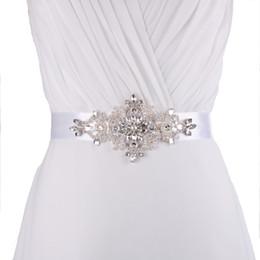 Wholesale coloured flower girl dresses - 2018 HOT S30 designer belts Rhinestone Bridal Belt Waistband Dress Belt Wedding Accessories Bridal Sash For 16 colour