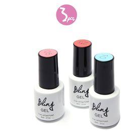 Wholesale wholesale shimmer nail polish - Wholesale-3pcs lot 80 Colors UV Nail Gel Polish Soak-off LED Shimmer Nails Manicure Women Nail Art Long-lasting Eco Friendly Nailcare