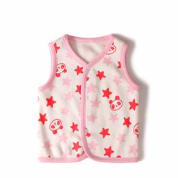 Wholesale Girls Printed Waistcoat - Wholesale-gots certificate wholesale 6pcs baby girls boys cozy thickened fleece vest winter warm vest waistcoats printing