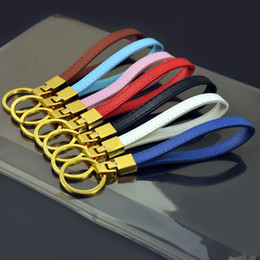 anéis de jóias celtas Desconto Atacado-50PCS Copy Leather Key Chains Fit Encantos 8mm Slide Pode ser Custmozed