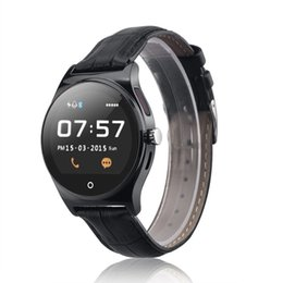 Wholesale Fitness Controllers - R11 Bluetooth Remote Controller Heart Rate Pedometer Sleep Monitor Smart Watch Phone Leather Wristband Anti-lost Sports Partner