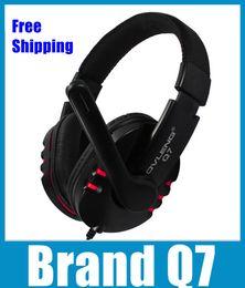 casque q7 Promotion Marque Q7 Casque USB Soup Bass Gaming Headset Avec Microphone Et Contrôle Du Volume Pour Computer Gamer EAR129