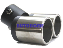 Wholesale Wholesale Car Mufflers - 4 X 150MM Car Stainless Steel Chrome Double Dual Exhaust Rear Tail Muffler Tip Pipe order<$18no track
