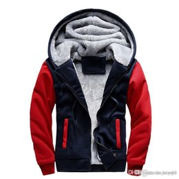 Wholesale Mens Cool Winter Jackets - Winter Men Plus Velvet Thick Warm Sweater Teenager Hooded Jacket Casual Unisex Hoodies Sweatshirt Cool Hip Pop Mens Sportwear Coat
