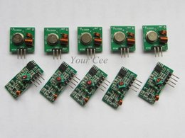 Wholesale Arduino Rf Link - 5 pair '10 pcs' 433Mhz RF transmitter and receiver link kit for Arduino ARM MCU WL Free Shipping