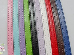 Wholesale 8mm Pet Collars - PU leather belt 8mm wide 1 meter long diy bracelet pet collars leather necklace cord leather bracelet cord