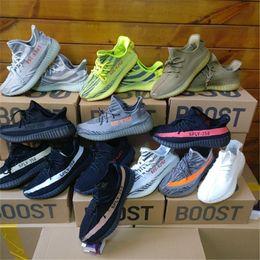 Wholesale Night Hunt - Beluga 2.0 Boost 350 v2 2018 New Grey Gold Orange Ah2203 Yellow Semi Frozen Blue Tint Red night Beluga Kanye West Shoes