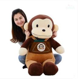 Wholesale cute stuffed animals monkeys - Dorimytrader 35''   90cm Hot Giant Monkeys Doll Stuffed Soft Plush Cute Large Animal Monkey Toy Nice Baby Gift Free Shipping DY60917