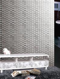 Wholesale Parquet Tiles Flooring - Mosaic tile grey stainless steel mosaic tiles modern home decor Tiles flooring mosaic tile texture mosaic tile wholesale