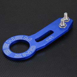 Wholesale Hook Jdm - Wholesale-Rear Tow Hook High Quality Car Styling JDM Racing Billet Aluminum CNC Rear Tow Hook Towing