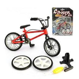 Wholesale Kids Bike Wholesale - New Alloy Finger Bikes Strange New Desktop Toys Finger Bicycle Decompression Toys Christmas Gift CCA8090 100pcs
