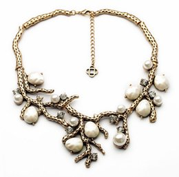 Wholesale Wholesale Banquet Plates - 2PCS Popular Vintage New Design Fashion Jewelry Elegant Plated Antique Gold Branch Pendant Banquet Necklaces & Pendant Free [JN06424*2]