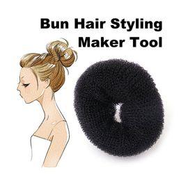 Wholesale Big Bun Ring - New Arrival Big Size Hair Styling Donut Magic Sponge Bun Ring Maker Former Twist Tool Hair Disk PTSP