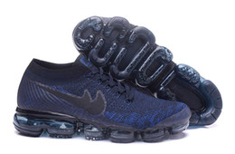 Wholesale Air Gas - 2018 air vapor knitting full palm flying line gas running shoes, men and women sports basketball shoes fashion casual outdoor walking shoes
