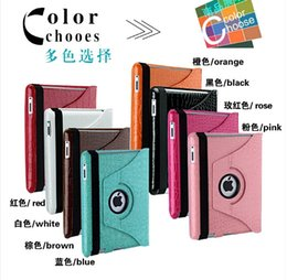 Wholesale Ipad Cover Leather Crocodile - For Ipad 2 3 4 air Air 2 apple tablet 360 rotating Magnetic Crocodile Snake Croco leather fold stand holster Pouch Smart cover table pc case