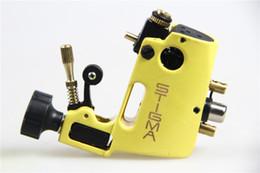 2019 mejor máquina de revestimiento rotativo Máquina de tatuaje de alta calidad Stigma Hyper V3 máquina de tatuaje de color amarillo pistola rotatoria para Shader y delineador de envío gratis