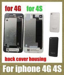 Wholesale Apple Iphone 4s Housing - full housing for iphone 4 g 4s back housing battery door cover replacement part work with front LCD display screen SNP001
