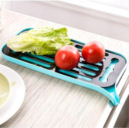 Wholesale Silicone Bowl Covers - Plastic Bowl Drain Rack Kitchen Multi Double-layer Drain Tray Dishs Bowl Sink Drain Base Drying Utensil OOA3421