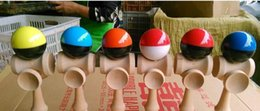 Wholesale Cup Ball Japanese - 140pcs Size 20.5cm 5 cups Japanese beech Game Kendama Ball colorful crack Paint tribute professional free DHL