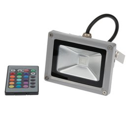 Wholesale Landscape Led Lumens - Wholesale-10W RGB led Flood Light 800 Lumens RGB Landscape Light IP65 Waterproof LED Floodlight with IR Remote Controller 16 Colorful