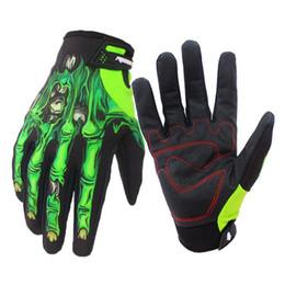 Wholesale Skeleton Touch Screen Gloves - Men Skeleton Bones Design Warm Cycling Gloves Full Finger Touch Screen Windproof Waterproof MTB Sports Luvas Gloves