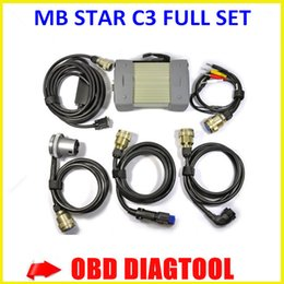 Wholesale Star C3 Tester - Best quality! Super MB Star C3 Multiplexer tester Star sd connect compact 3 C3 Diagnosis with strong cables without hdd fast Freeshipping