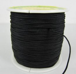 Wholesale Wholesale Chinese Knotting Cord - Black Factory Price 1.5mm nylonguyj 160M 175yards lot Chinese OP,E Knot String Nylon Cord Rope for Shamballa Bracelet jewelry