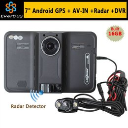 Wholesale Navigation Europe - New 7 inch Android Car GPS Navigation rear view Radar Detector Car DVR 1080P Truck vehicle gps Navigator AVIN Europe Navitel map A3*