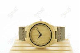 Wholesale Leather Belt Discount - Discount bamboo watches sell like cakes High quality leather belt watches Fashion wooden table Best-selling Europe and America style