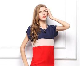 Argentina Al por mayor-2015 nuevas mujeres de moda de color rojo raya Chiffion Blusas de manga corta S M L XL Tops camisas para mujeres de verano estilo Bluas Top supplier chiffion blouse Suministro