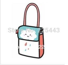Wholesale 3d Bags For Sale - Wholesale-2015 top sale 3d cartoon bag lady handbag tote bag bowling bag fashion creative sweet bag for free shipping