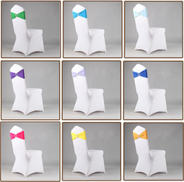 Wholesale Wedding Chair Cover Plastic - 100pc spandex chair band with plastic buckle for wedding decoration lycra cover chair bands elastic chair band#Z312