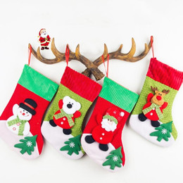 Wholesale Christmas Tree Wholesale Prices - Christmas socks gift bags corduroy Christmas decorations beautiful Christmas tree pendant decorations supplies factory price top quality
