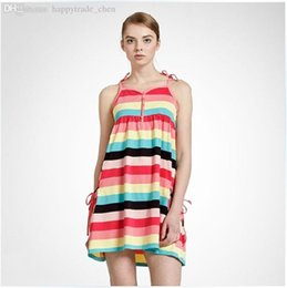 Wholesale Design For Pregnancy Clothing - Wholesale-Summer Sleeveless Strap Design Women Striped Maternity Clothing Size XS-2XL Pregnant Women Cotton Dress For Pregnancy Clothing