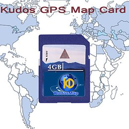 Wholesale Ce North America - Genuine North America(USA Canada) GPS Navigation KUDOS North America Map (SD Card-4G) Car GPS & Accessories Gadgets & Auto Parts GPS map for