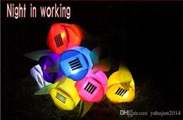 2019 12-вольтовая лампочка Горячие продажи светодиодные фонари на солнечной энергии Тюльпан цветок свет открытый двор сад путь 7 цвет на выбор