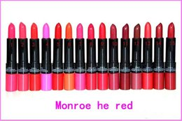 Wholesale Marilyn Lipstick - New Released Makeup Marilyn Monroe 2 in 1 lustre lipstick kissable lip colour 12pcs Free shipping high quality from faststep hot selling NEW