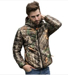 Wholesale Military Jacket For Thin Men - 2016 Men Winter Duck Down Jackets Outdoor Sports Military Style Camouflage Down Jacket With Hooded For Men Plus Size Down Coats