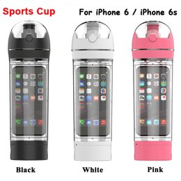 Wholesale Mugs Iphone - Free Shipping 2015 New Hot Sale Travel Mug Space Cup Bicycle Hiking Sports Moutain Hiking Water Bottle For iPhone 6   iPhone 6S