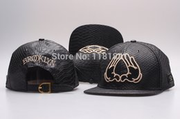 Wholesale Names Hats - Wholesale-New CAYLER & SONS BROOKLYN Leather Pretty strapback Hats,hot brand Name Casual Flowers Visior Caps,Hip Hop Fashion snap back