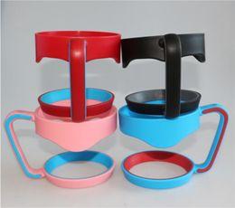 4 couleurs en plastique poignée portable 30 onces titulaire pour 30 onces tasse tasse en acier inoxydable opp sac emballage ? partir de fabricateur