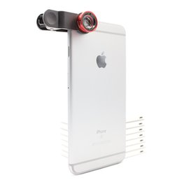 Wholesale Effects For Mobile Phone Camera - External effects universal clip lens for iphone samsung ipad motorola fisheye ultra wide-angle macro universal mobile phone camera lens