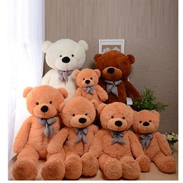 Wholesale Red Stuffed Teddy Bear - COLORS GIANT STUFFED PLUSH TOYS TEDDY BEAR 60 80 100 120 160 180 200cm Halloween Christmas gift Valentine's day birth gifts for children
