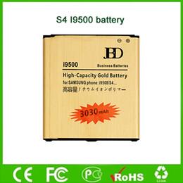 Wholesale 3030mAh batería de oro para Samsung Galaxy S4 I9500 S4 ACTIVE I9295 I545 batería móvil de alta capacidad de fábrica directo de la venta al por mayor