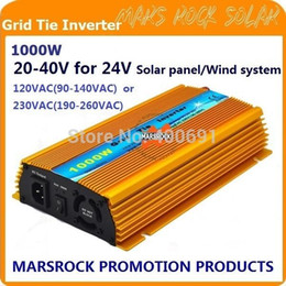 Wholesale Solar Power Grid Tied - FREE Shipping!!1000W 24V Grid tie micro inverter, DC20V~40V, AC90V-140V or 190V-260V for 1200W 24V Solar panel and Wind Power ! A5